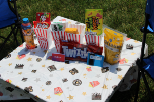 movie night tiny table auction fundraiser